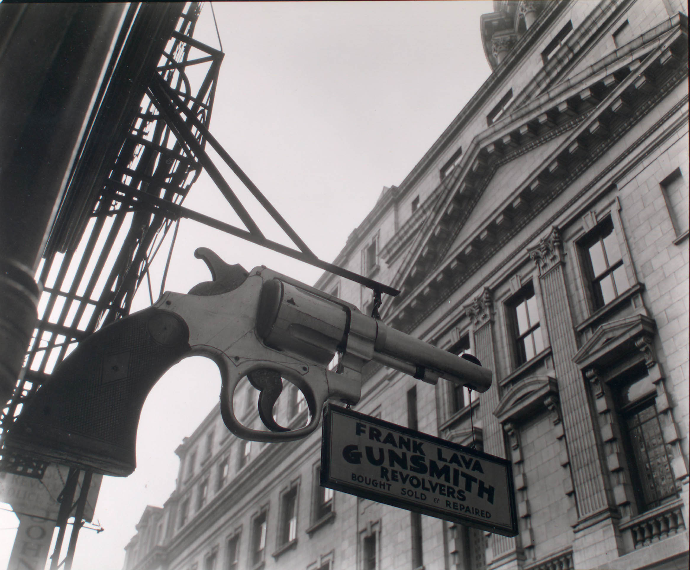 Gunsmith and Police Station. New York. 1937