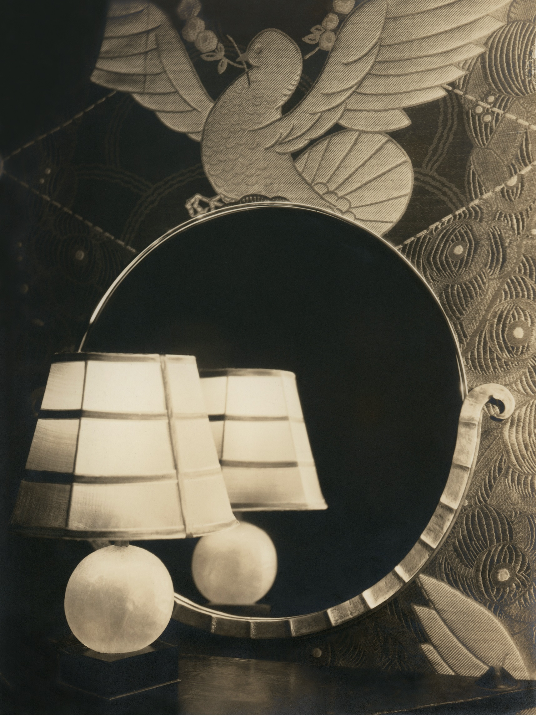 M. Watkins. Untitled. Lamp and Mirror c.1925